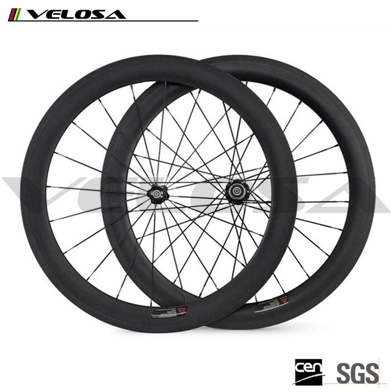 700c carbon road bike wheels,60mm*23mmBeautiful carbon bicycle wheels high-profile carbon wheels on sale