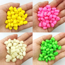 YOUME 100 pcs/lot 1cm 0.43g Soft Fishing Lure Floating Corn Lure for Carp Fishing Lures Smell of Corn Grain