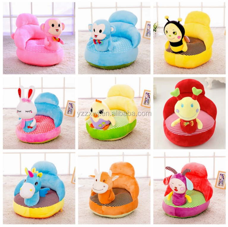 free sample plush animal bee sofa plush animal sofa chair hot sale cute soft for baby kids animal plush sofa