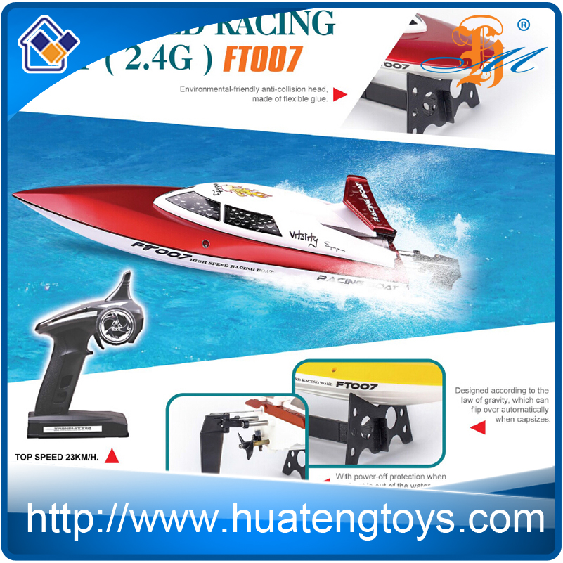 High speed Feilun FT007 2.4G rc racing boat Best sale rc jet boat for adults