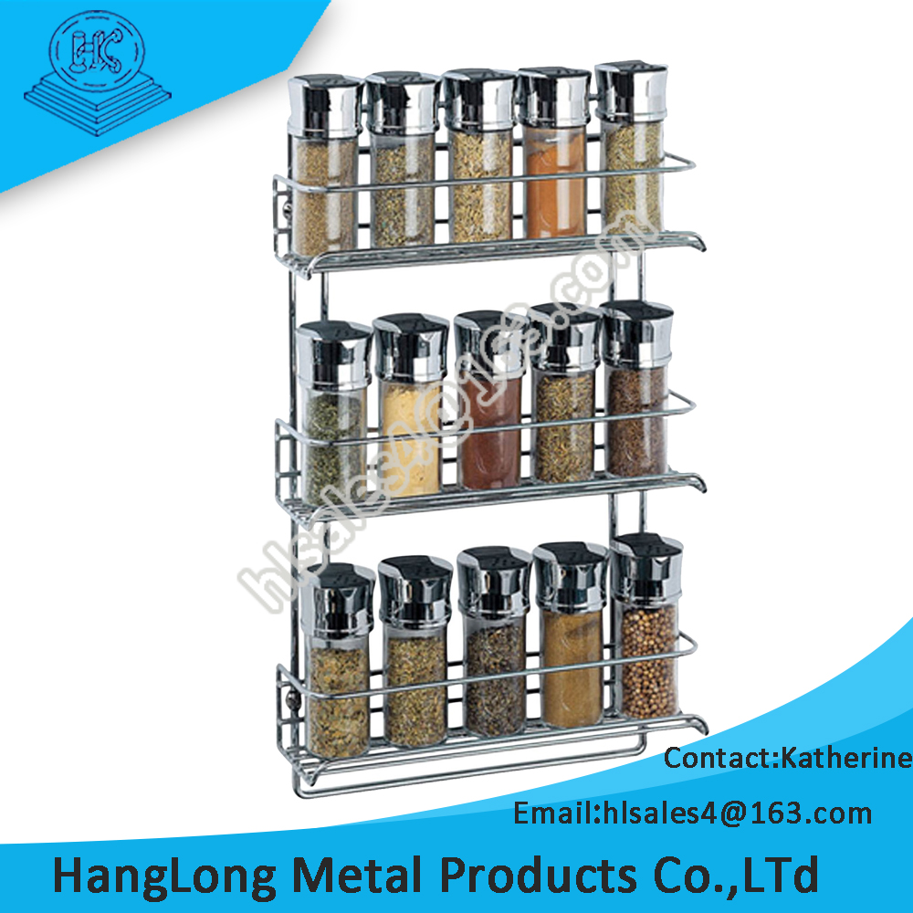 kitchen use durable wall mount display stand