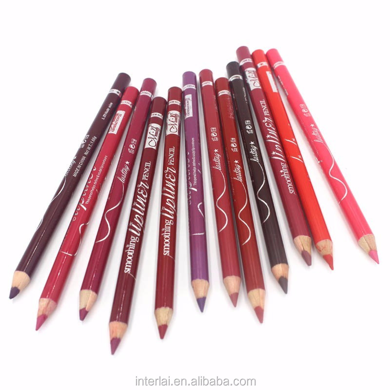 Menow 12 colors makeup eye liner & lip liner long lasting cosmetics pencil kit P15001