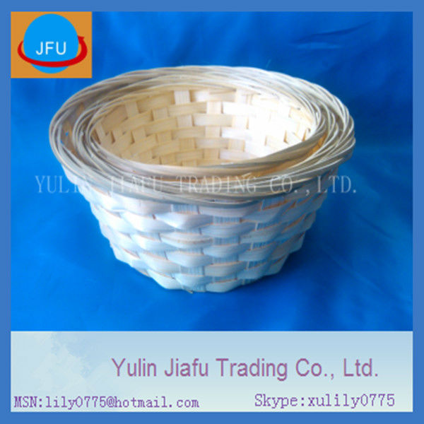 bamboo basket pure handmade weaving round brown special offer promotion bamboo basket