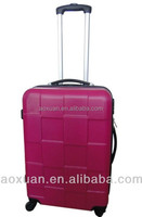 Hot Sale Red Color Hardside Double Wheel ABS Suitcase Luggage