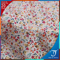 Breathable cotton combed fabric 100% flower printed poplin fabric for baby dress