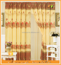 Promotion Factory half sale cheap style printed jacquard curtain with taffeta double layers in south american market