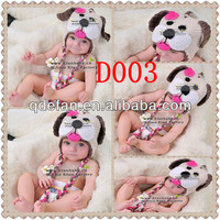 2013 winter earflap hat infant toddler animal dog crochet baby acrylic beanie minions