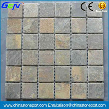 Wall Brick Decoration Indoor Slate Mosaic Tile