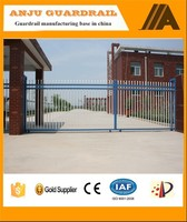 Elegent top grade unique steel farm fence gates AJ-GATE004