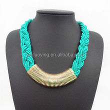 DY-BN007 Fashion Bohemia Bead Necklace Bib Collar Necklace For Women Jewelry