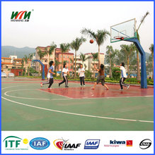 Anti UV Colorful Outdoor Basketball Court Flooring Material