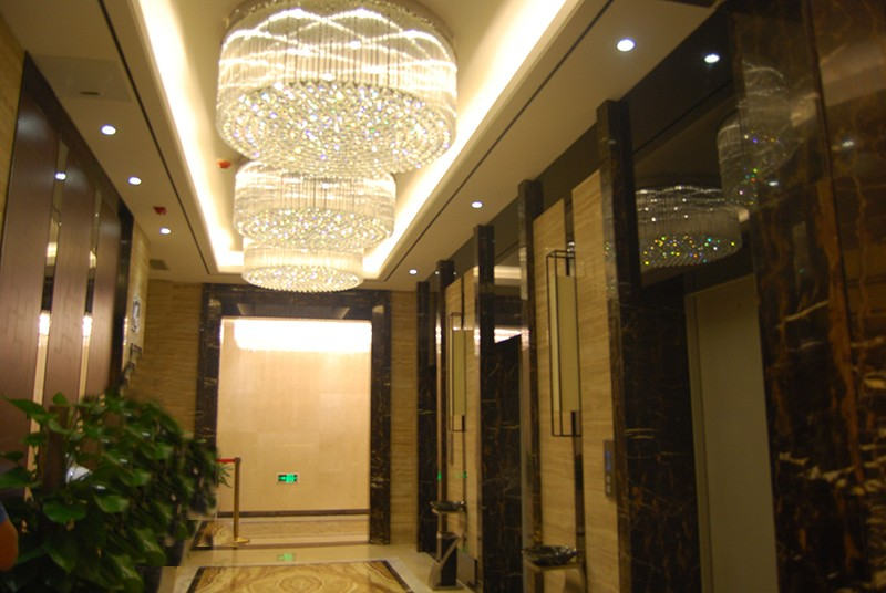 Modern K9 crystal round ceiling mounted lamp crystal chandelier for sale