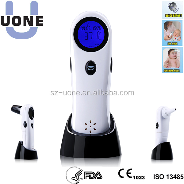 China Supplier IR Forehead and Ear Thermometer with talking function