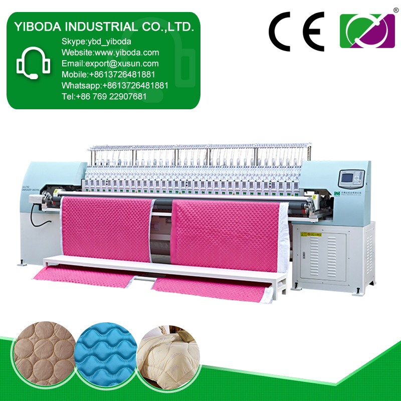 Industrial apparel and textile quilting embroidery machinery