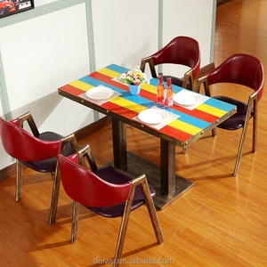Wholesale fast food sets discount italian wrought iron cafe furniture