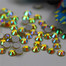 Top quality Wholesale ss12 2mm topaz ab hot fix rhinestone vacuum applicator