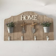 wooden wall decor coat hooks