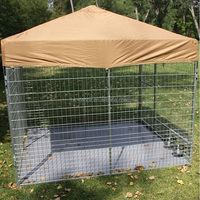 HT DK 6/10 pet products cheap chain link dog kennel / large welded dog run house / outdoor metal dogs house factory direct