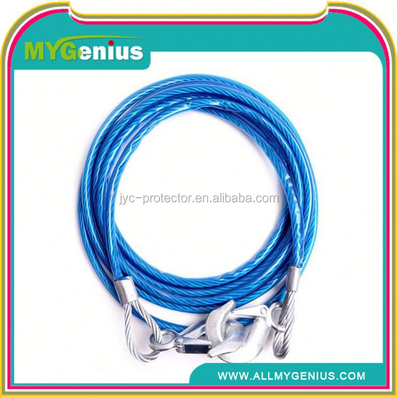Braided rope ,JA5k car pull rope ,elastic tow strap