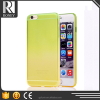 Mobile Accessories premium gradual tpu case for iphone 6
