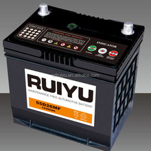 Maintenance Free Car Battery Of 12V60Ah Japan Technology 55D26 SMF Lead Acid Battery Used For Car Starting
