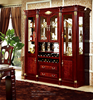 Home Antique whisky Wooden Wine Glass Display Cabinet Living Room With Wine Rack