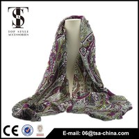New Fashion Pashmina 30% wool blending Womens Scarves Paisley Stole Shawl Wrap Scarf
