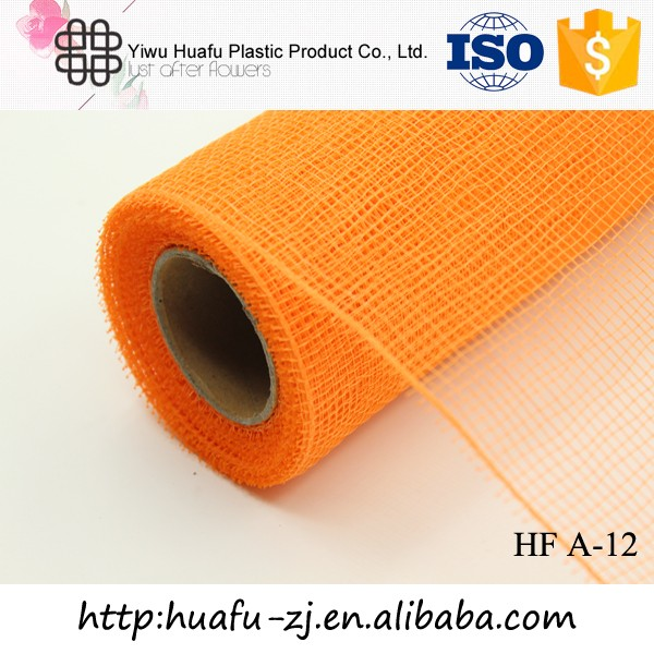 Wholesale newest good quality 10yards holiday flower mesh