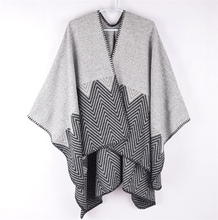 Women Oversized Acrylic Knitted Poncho Cape Cardigan Coat Shawl Wrap
