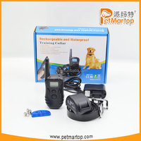 2016 new rechargeable and waterproof remote dog training collar TZ-KD668 anti bark dog collar
