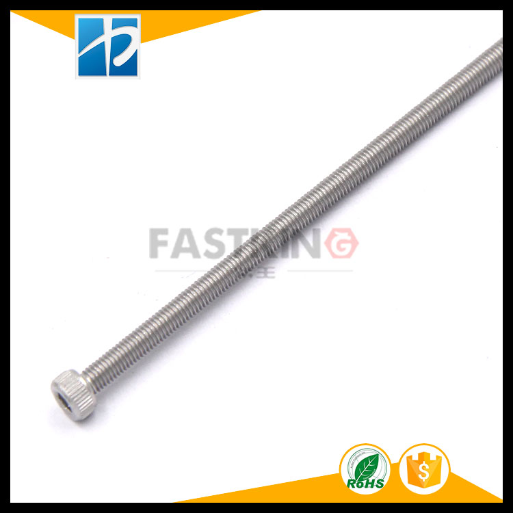 Stainless steel 304 extra long cup cylinder head inner hexagon screw DIN912 machine tool screw
