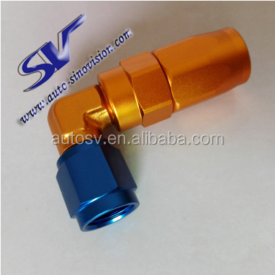 90 degrees AN6 forged oil cooler aeroquip fittings quick joint red blue AN fittings joint car motorsport Pipe Fittings