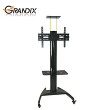 Metal portable and mobile tall TV cart fit for 55 inch TV stand