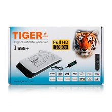 Tiger I555+ Factory Wholesale Price Satellite Receiver Support 3G / USB WiFi / Youtube / IKS World TV Box FTA(Free to Air)