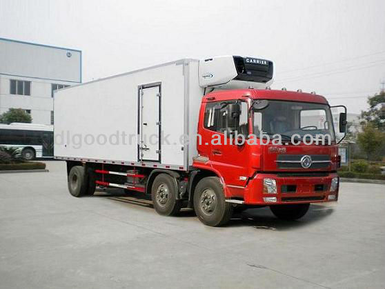 Dongfeng 6x2 refrigerated van and truck
