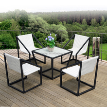Foshan Coffee Shop Table & Chairs Rattan Outdoor Leisure Patio Furniture(Z393)