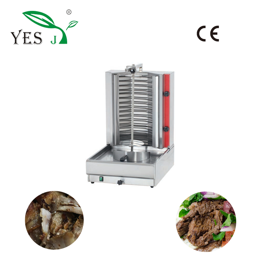 table-top chocolate chicken kebab skewer grill small shawarma machine