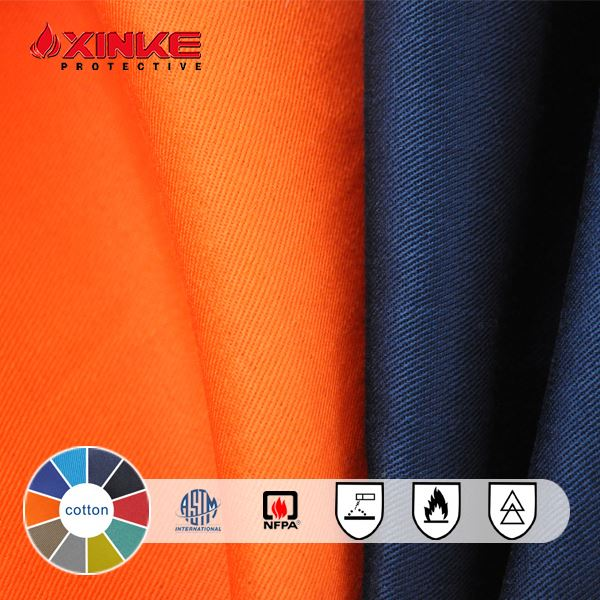 inherently 100% cotton twill fire flame retardant fabric yard with proban