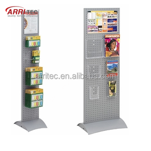 Phone accessaries pegboard metal display rack with acrylic card slot