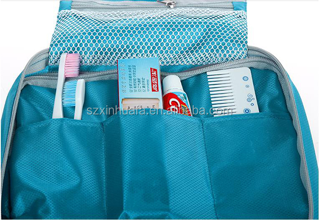 2016 Cheap Wholesale Polyester Makeup Bag With Bag Travel Kit Bag