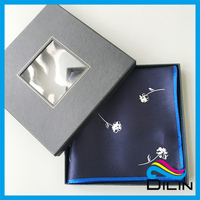 black window handkerchief gift packing box with nice design