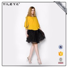 ODM Services Black Color Cute Short Tulle Skirt
