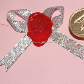 Merry Christmas Wax stamp Customized Round Return Address Stamps Custom wood stamp seals