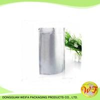 customized logo printing resealable plastic zip lock silver mylar aluminum foil coffee bags