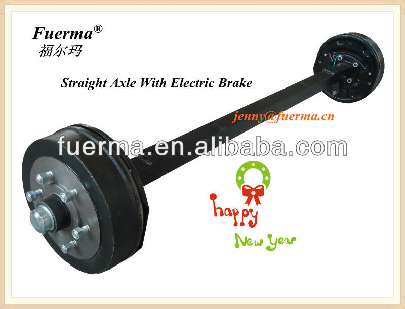Straight Axle With Electric Brake System