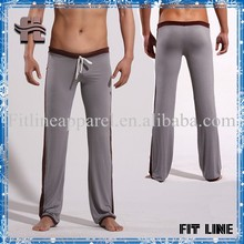 Custom comfortable cheap breathable plain cotton/spandex tight loungewear legging/High quality custom draw-string waist pants