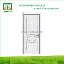 YMR-037 high quality interior bathroom wood flush PVC door profile