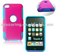 two-part mesh hard case skin back cover for ipod touch 4
