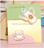 2016 3D Boiler and cup pattern new design thanksgiving card/birthday card/greeting card
