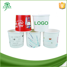 China 32oz wholesale Disposable paper soup cup with black paper lid